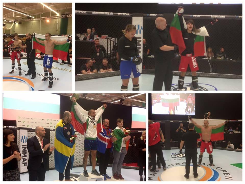 България извоюва два златни медала от европейското по ММА