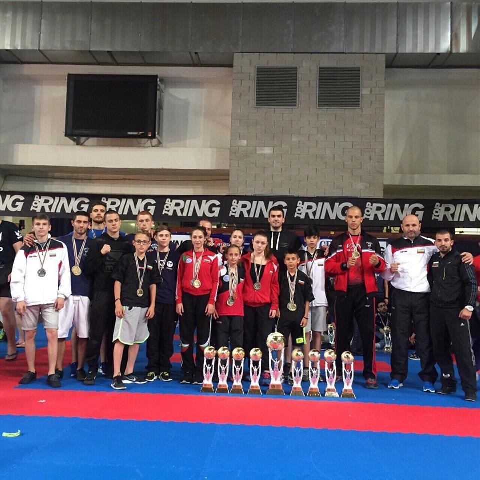 """ИЗУМИТЕЛНО! Националите по кикбокс спечелиха 24 медала от """"Best Fighter"""" 2016"""