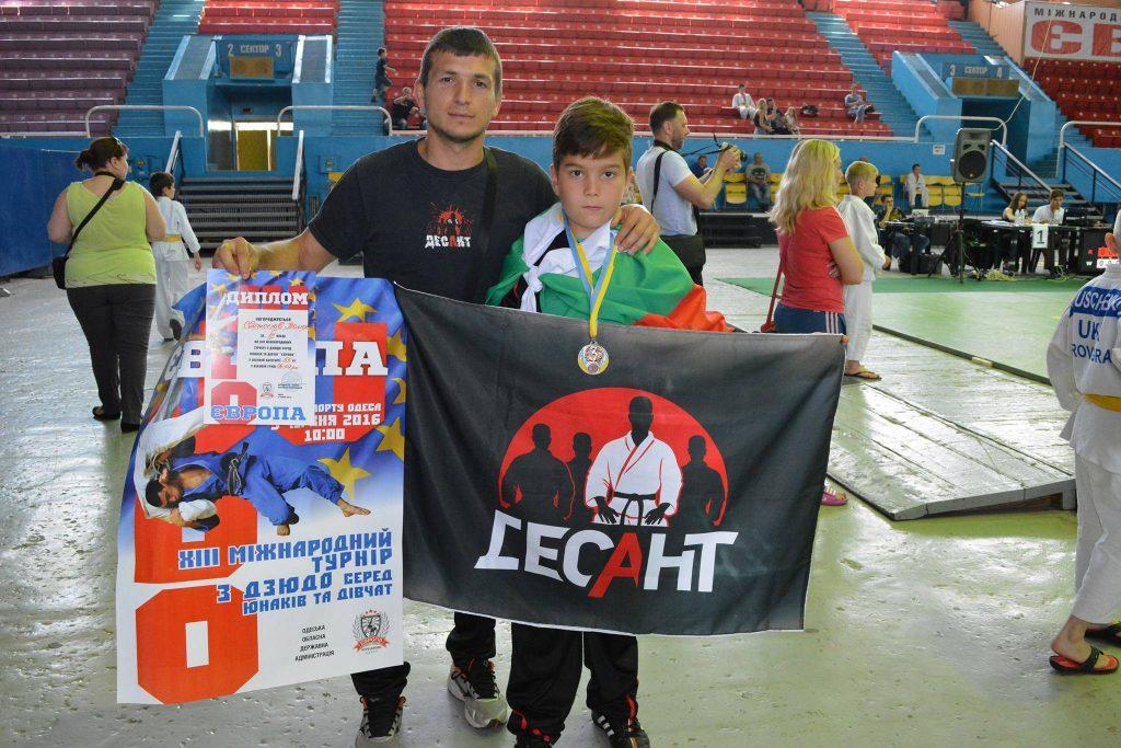 Българче спечели медал от силен турнир по джудо в Украйна