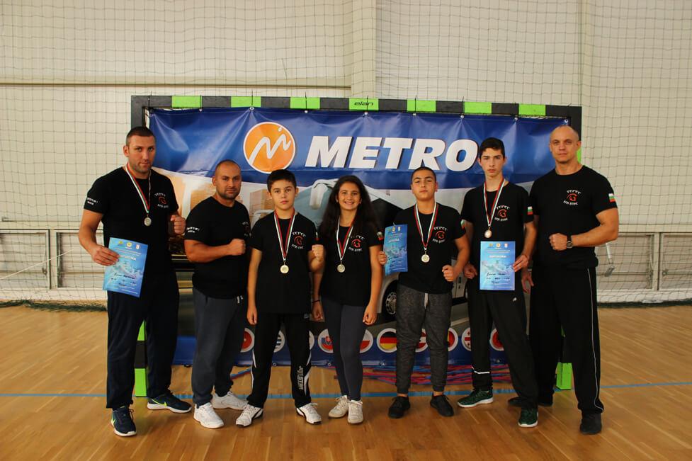 """Пет медала за СК """"Терес"""" от Републиканското по кикбокс в Свиленград"""