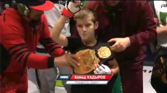 10 годишният син на Рамзан Кадиров нокаутира съперник за 14 секунди (ВИДЕО)