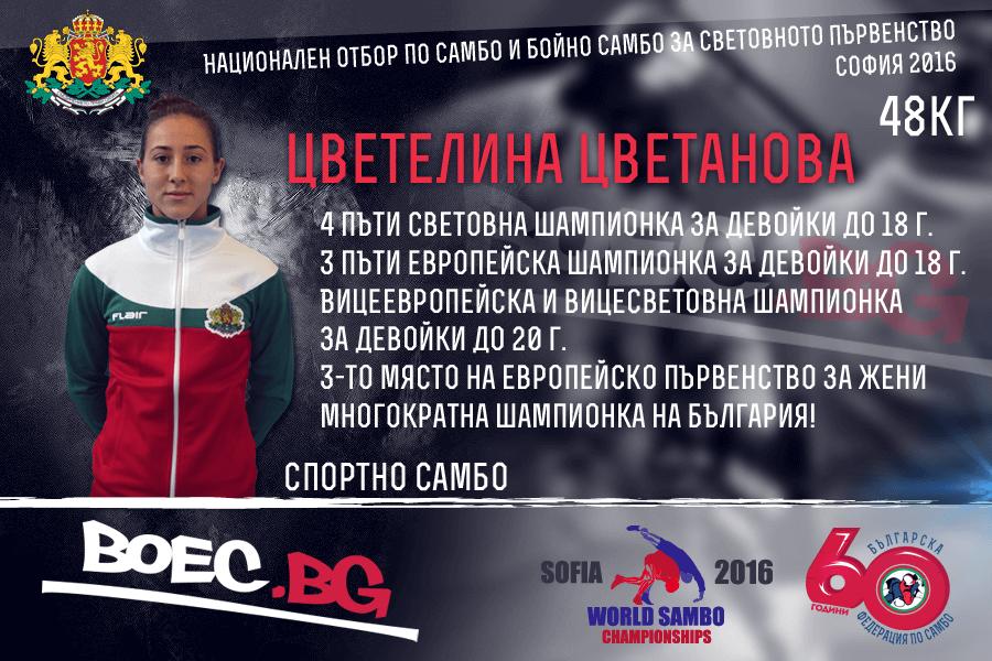 СП Самбо София 2016: Цветелина Цветанова