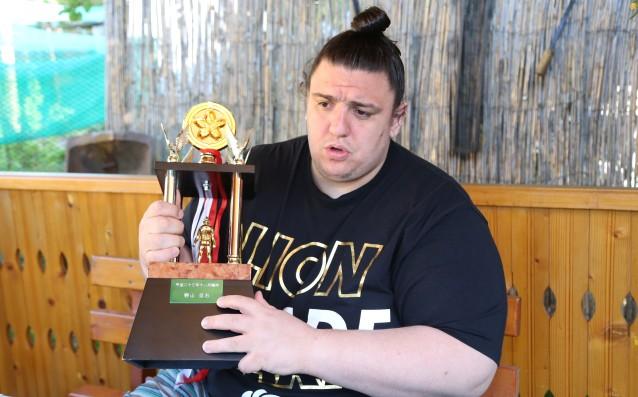 Даниел Иванов завърши трети на престижен турнир по сумо