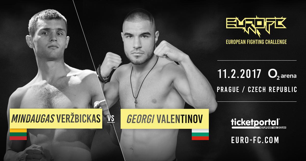Георги Валентинов срещу Mindaugas Veržbickas на 11-ти февруари