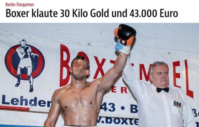 Български боксьор открадна 30 кг злато, съдейства на полицията в Германия и се размина със затвор