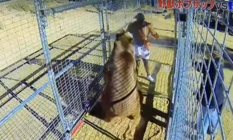 В Япония посрещнаха 2018 година с бой между мечка и ММА боец (ВИДЕО)