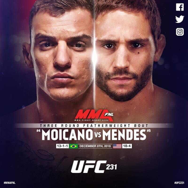 Чад Мендес срещу Ренато Мойкано на UFC 231
