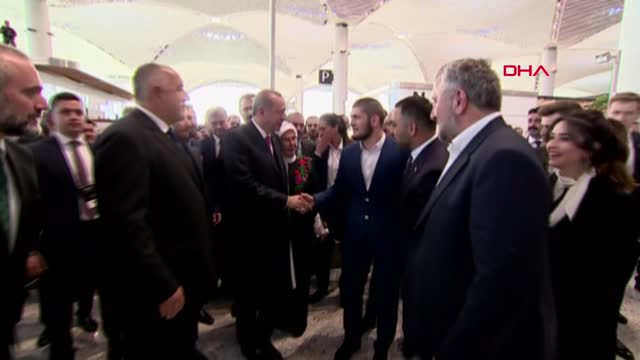Каква среща! Ердоган, Бойко Борисов и Хабиб Нурмагомедов (ВИДЕО)