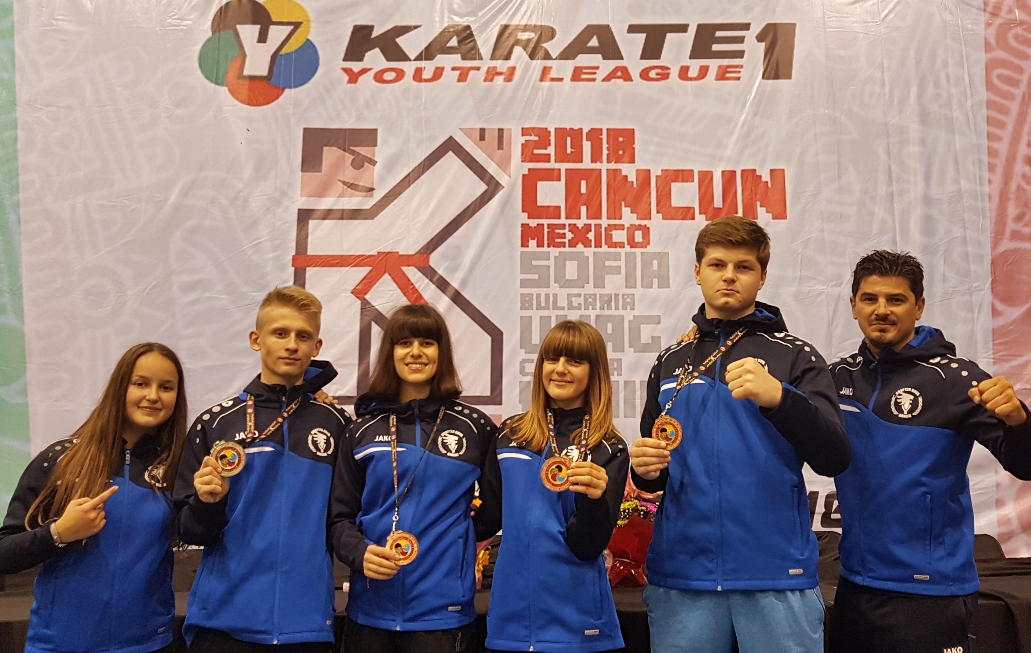 България с 4 медала от Световната младежка карате лига