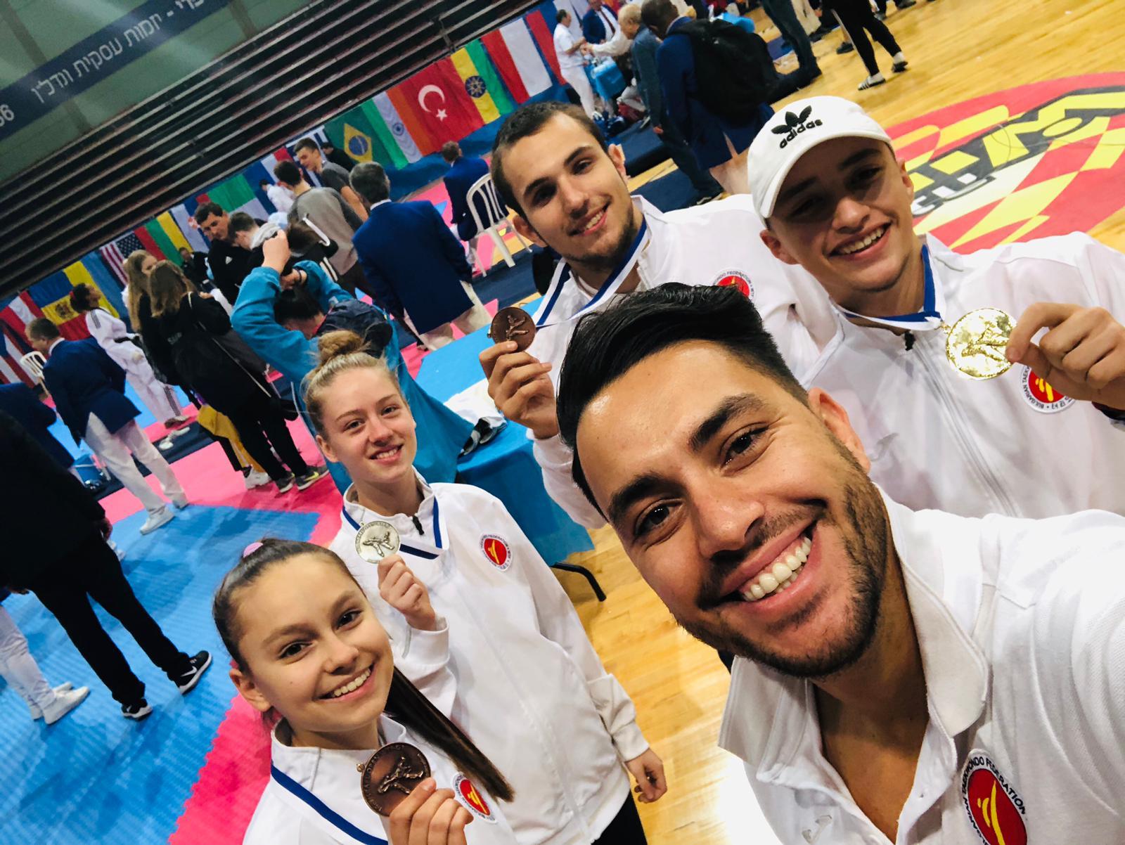 Българските таекуондисти с 4 медала от Израел