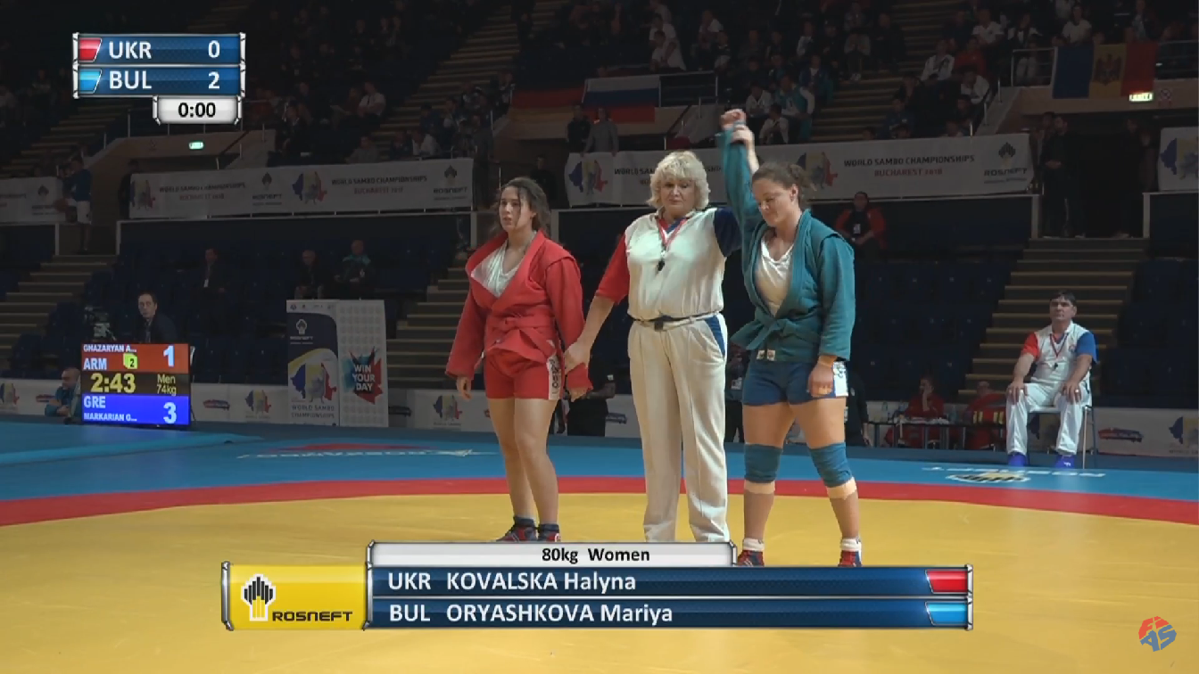 Мария Оряшкова е на финал на Световното по самбо