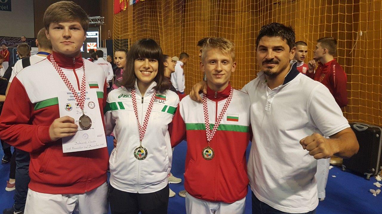 Младите български каратеки обраха медалите на Балканскотопървенство