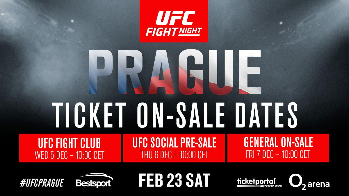Пускат билетите за UFC Прага
