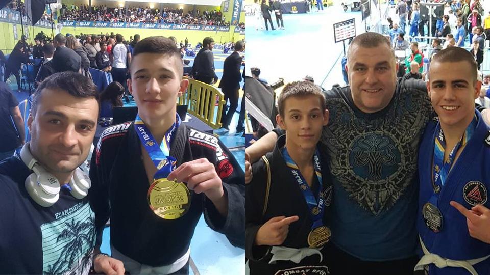 Нови два златни медала от Европейското по бразилско джу-джицу
