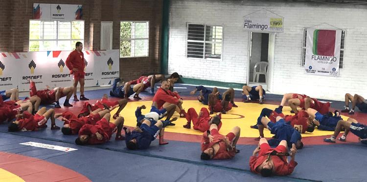 Първи международен самбо лагер в Колумбия