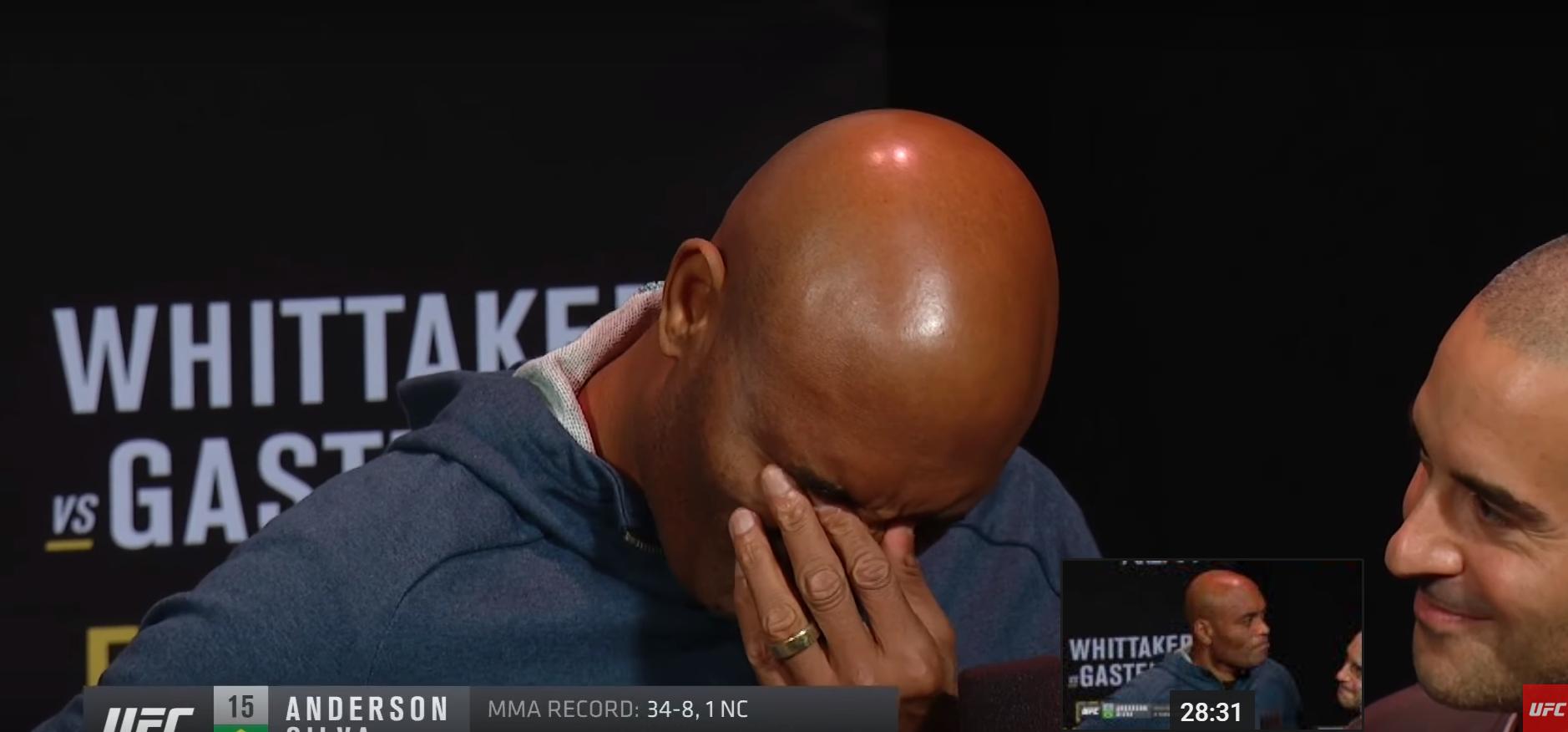Андерсон Силва се разплака на кантара преди UFC 234 (ВИДЕО)