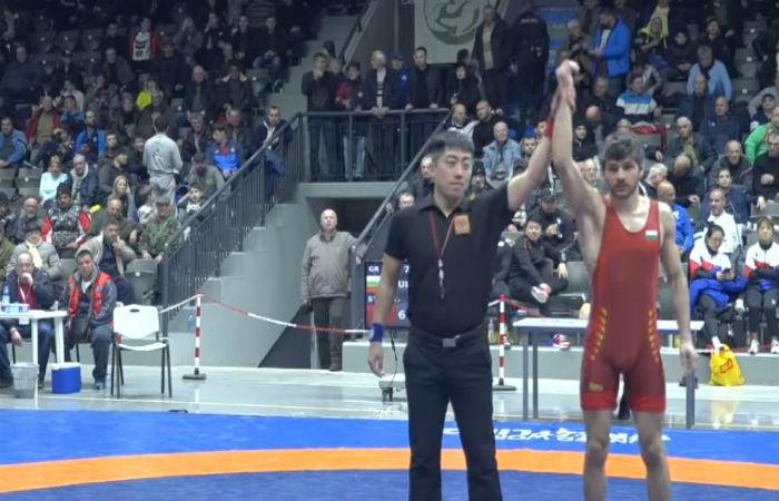 Константин Стас с бронзов медал от Русе