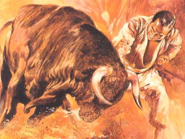 Как Мас Ояма побеждава бик с голи ръце (ВИДЕО)