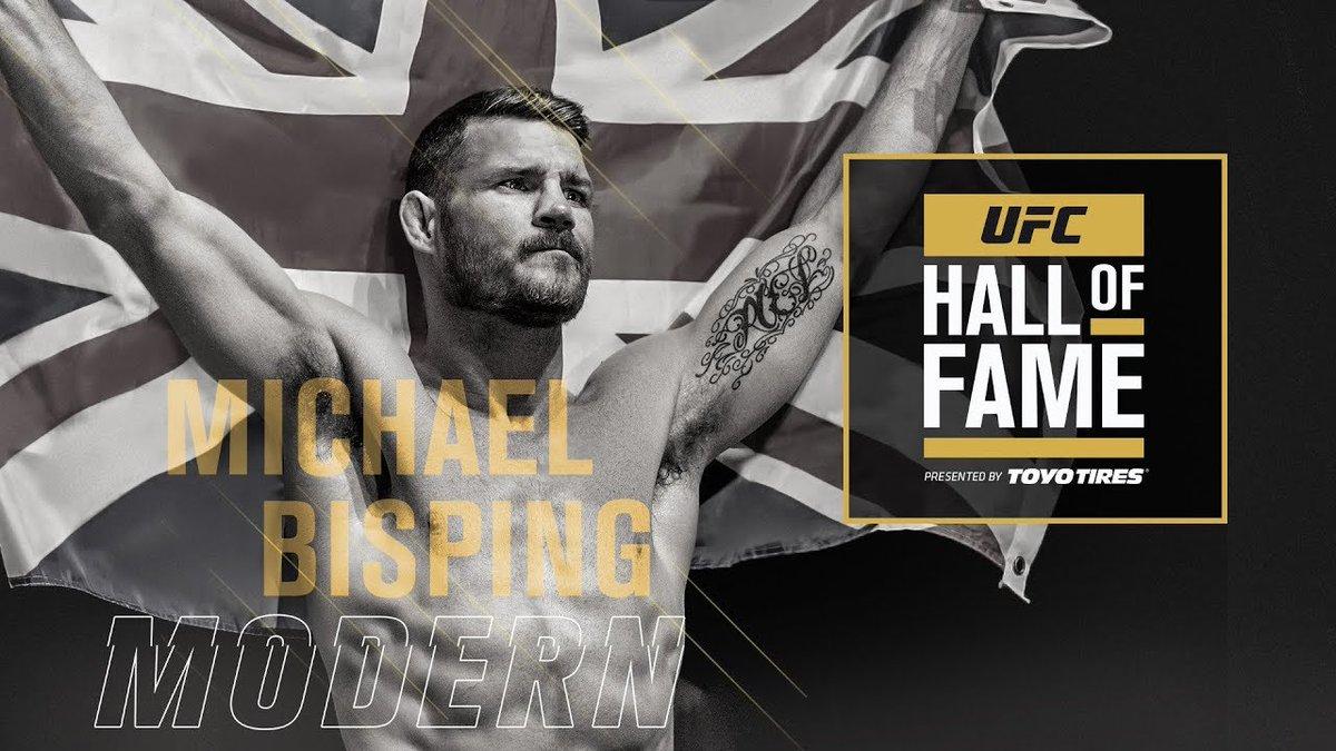 Майкъл Биспинг ще бъде въведен в Залата на славата на UFC