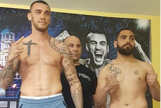 Даниел Илиев и Георги Валентинов успешно минаха кантара на GRAND FIGHT ARENA 2