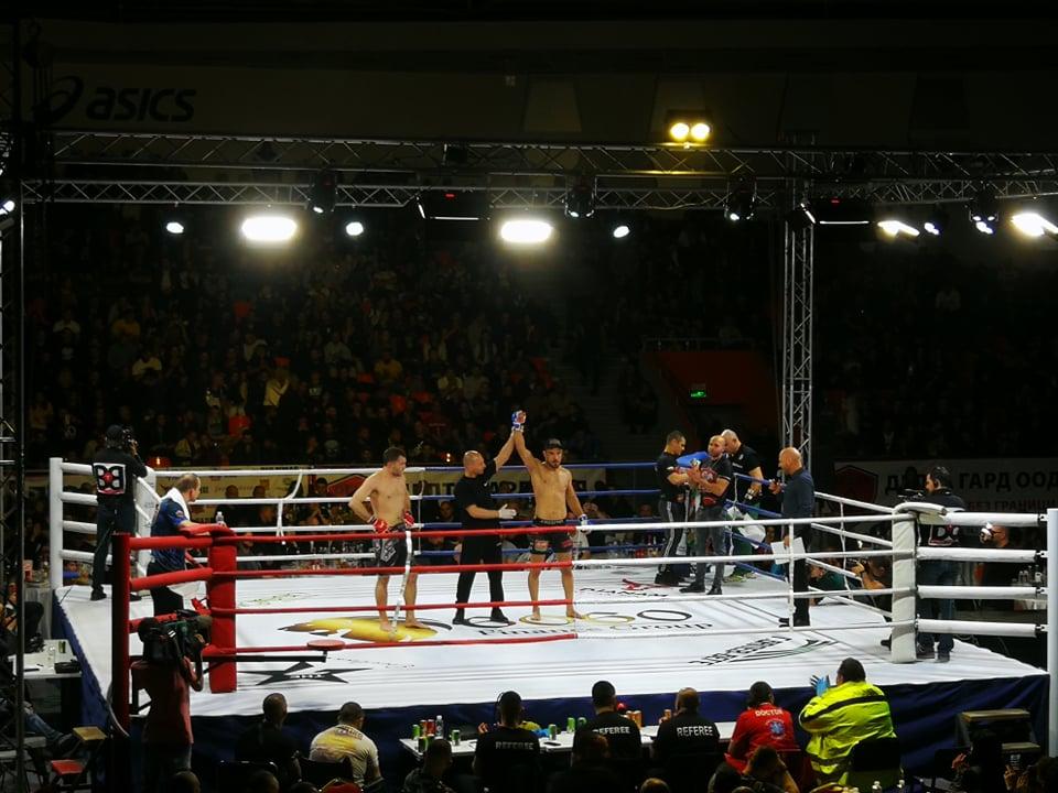 Георги Валентинов с категорична победа на GRAND FIGHT ARENA 2