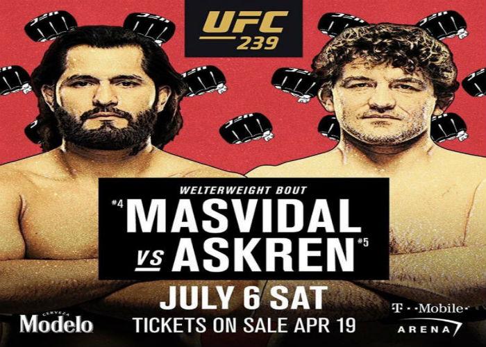 Официално – Бен Аскрен срещу Хорхе Масвидал на UFC 239