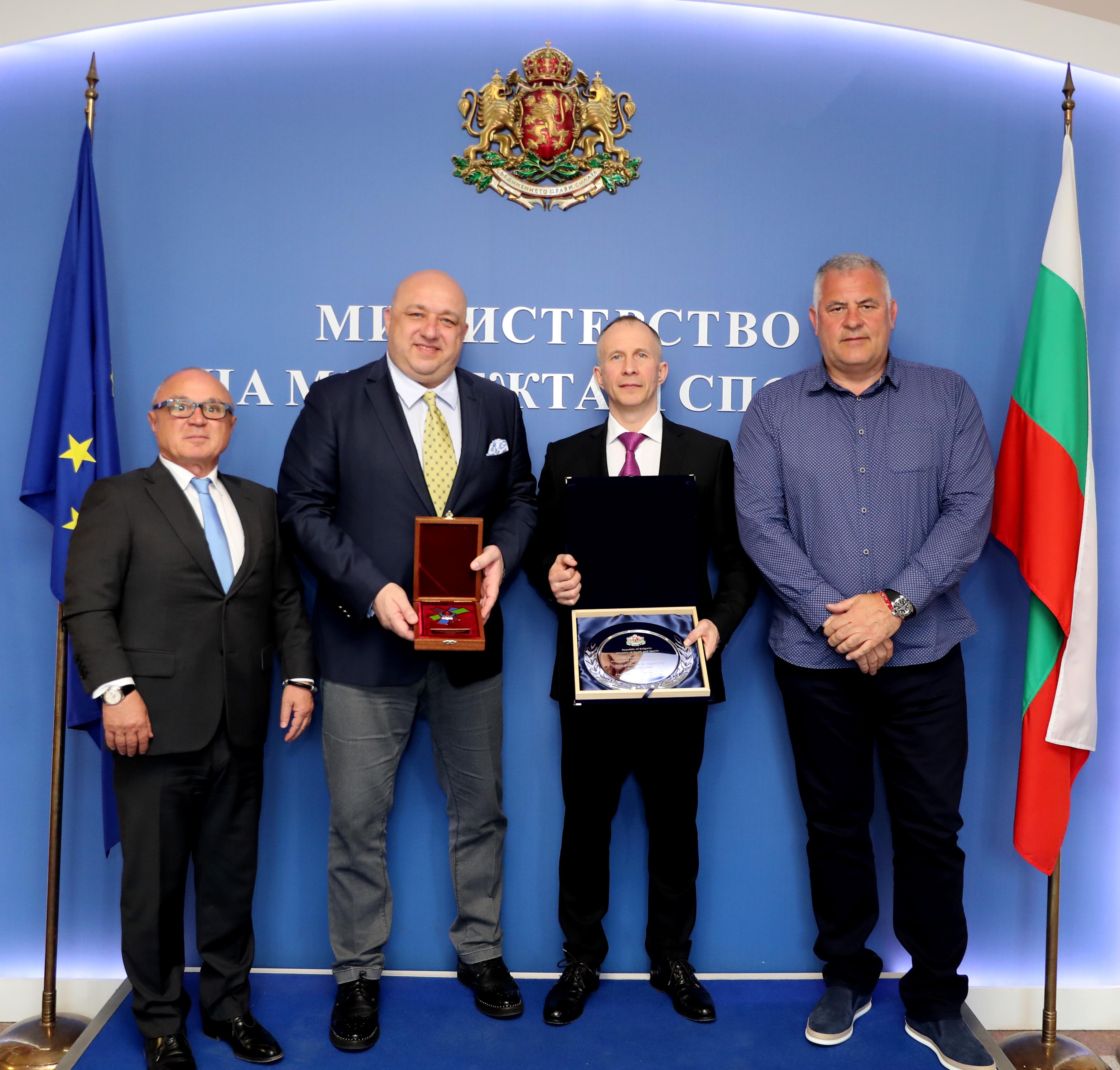 Министър Кралев се срещна с президента на Европейския съюз по джудо