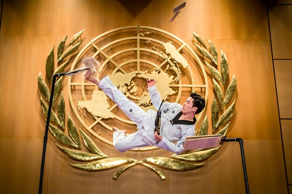 Таекуондистите с ефектни демонстрации и в централата на ООН