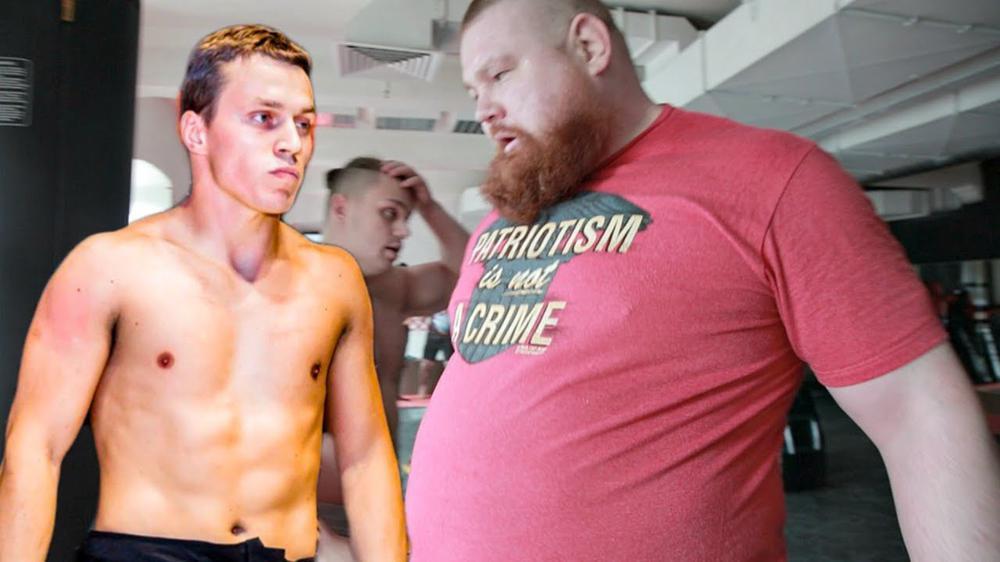 Боец срещу блогър, 70 килограма разлика и изненадващ победител