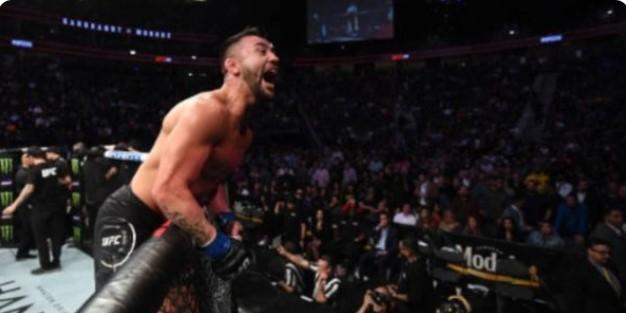Глобиха Педро Муньос заради радостта му на UFC 235
