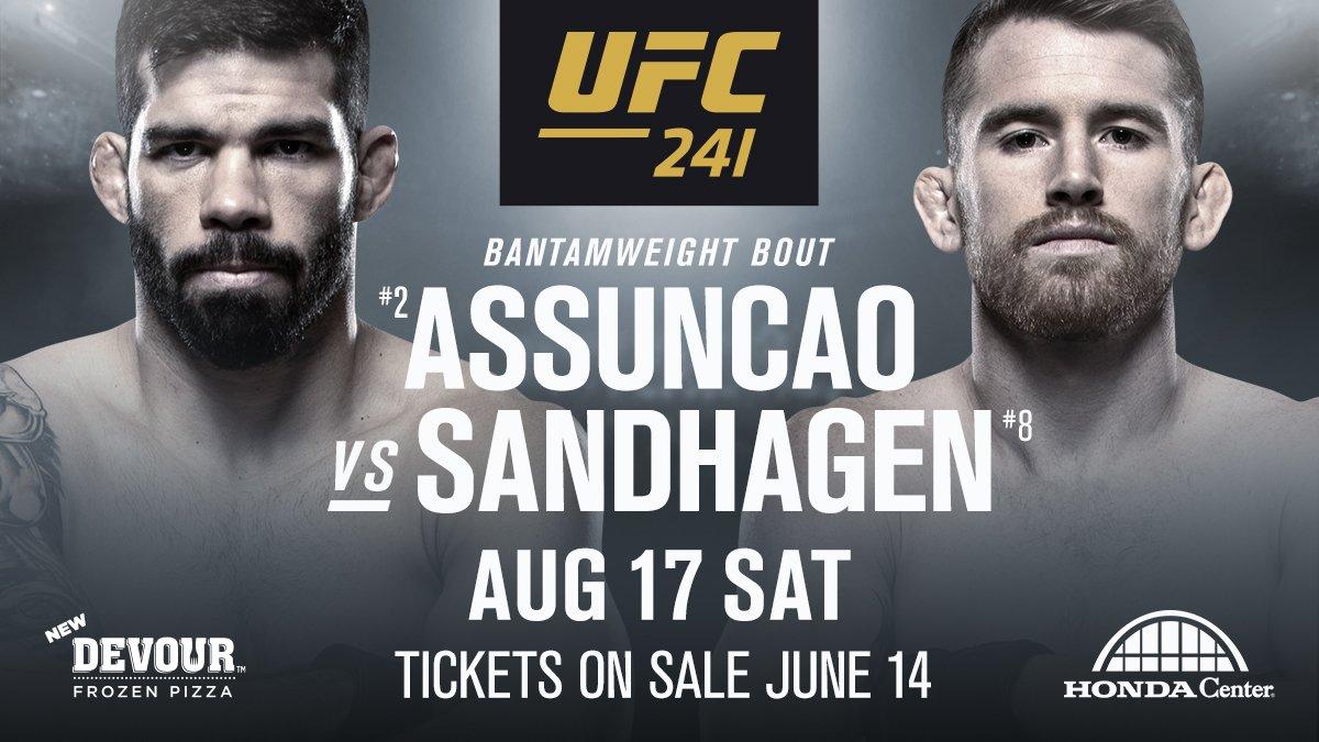 Рафаел Асунцао срещу Кори Сандхаген на UFC 241
