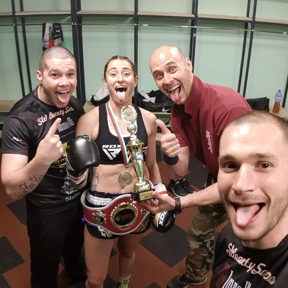 Теодора Кирилова записа страхотен нокаут и спечели титла в София