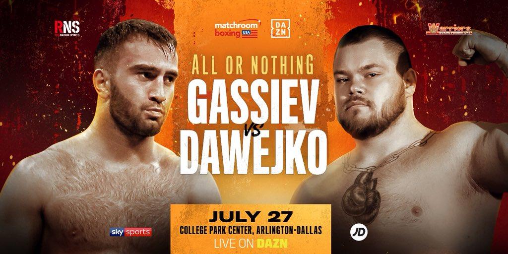 Гасиев дебютира в тежка категория срещу спаринг-партньора на Джошуа