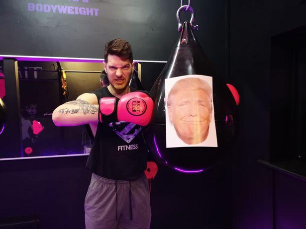 Лепнаха Тръмп на боксови круши