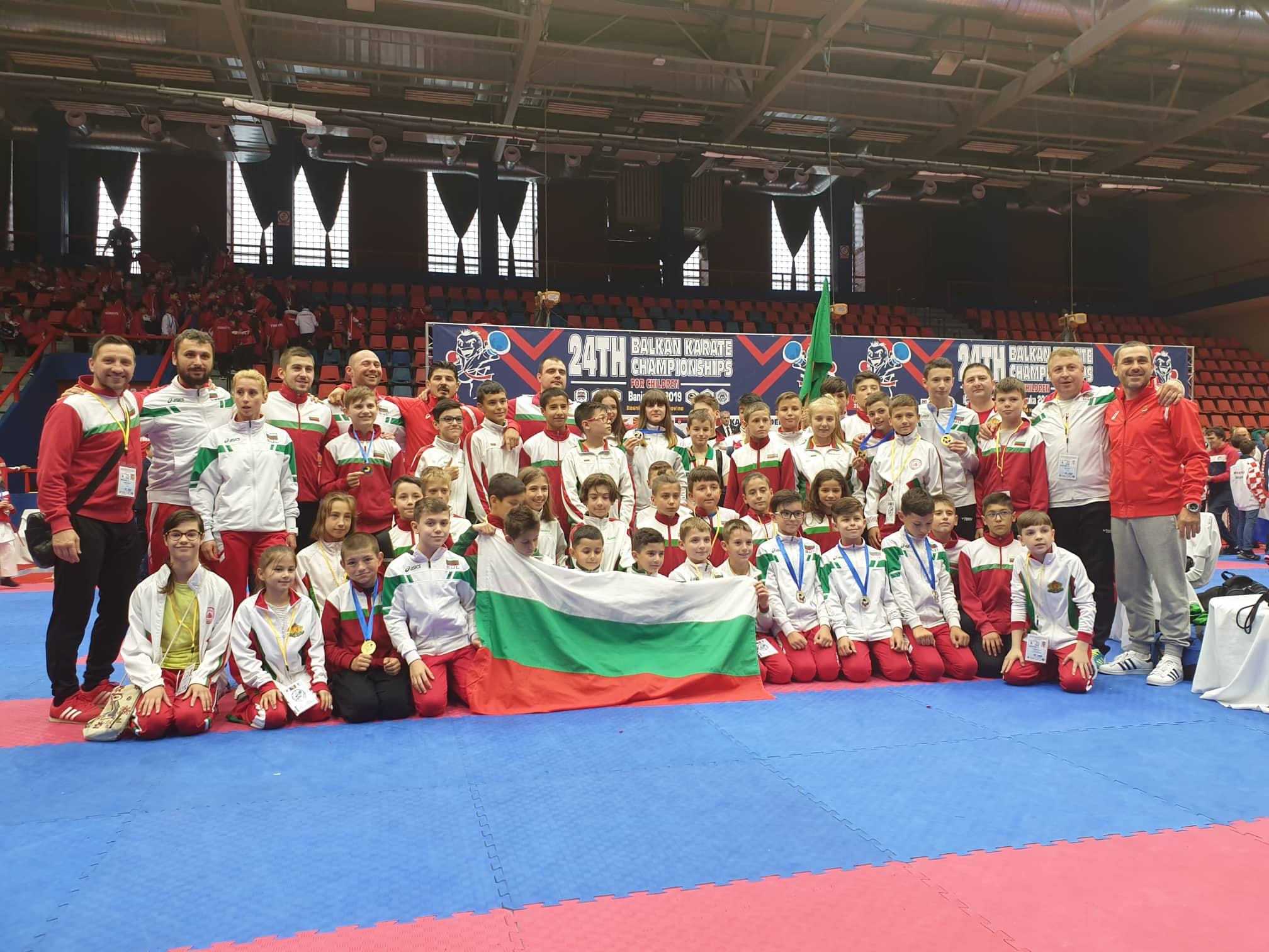 България с 11 медала от Балканското по карате за деца