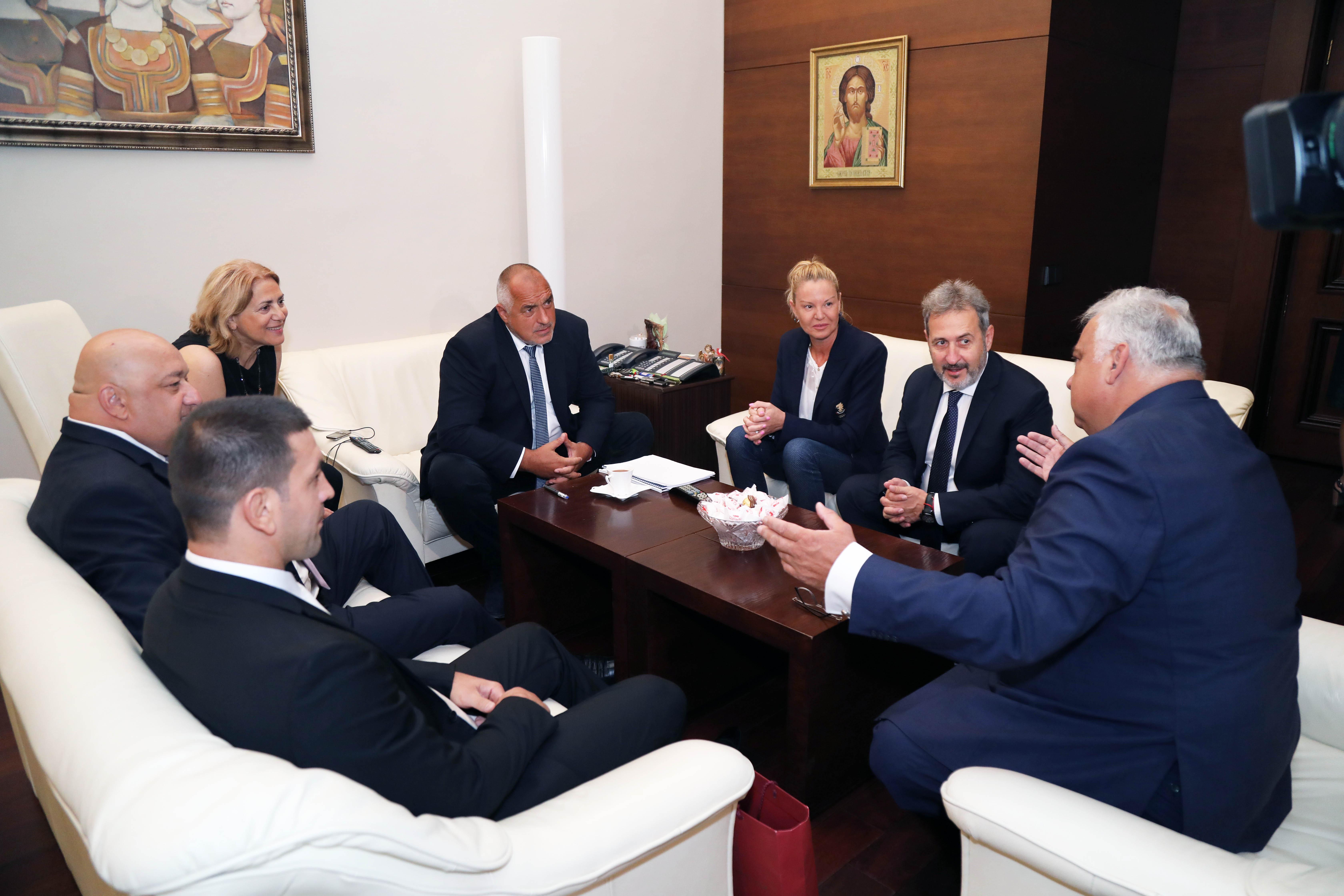 Шефът на световната борба на среща с премиера на България