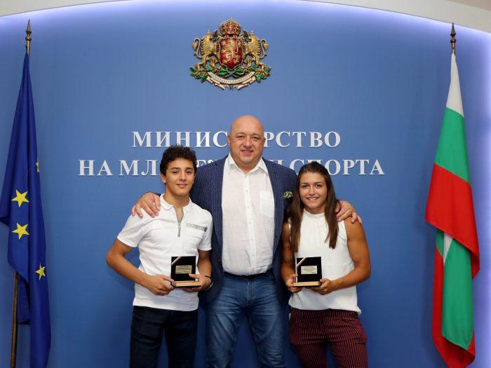 Министър Кралев награди Сезен Белберова и Едмонд Назарян
