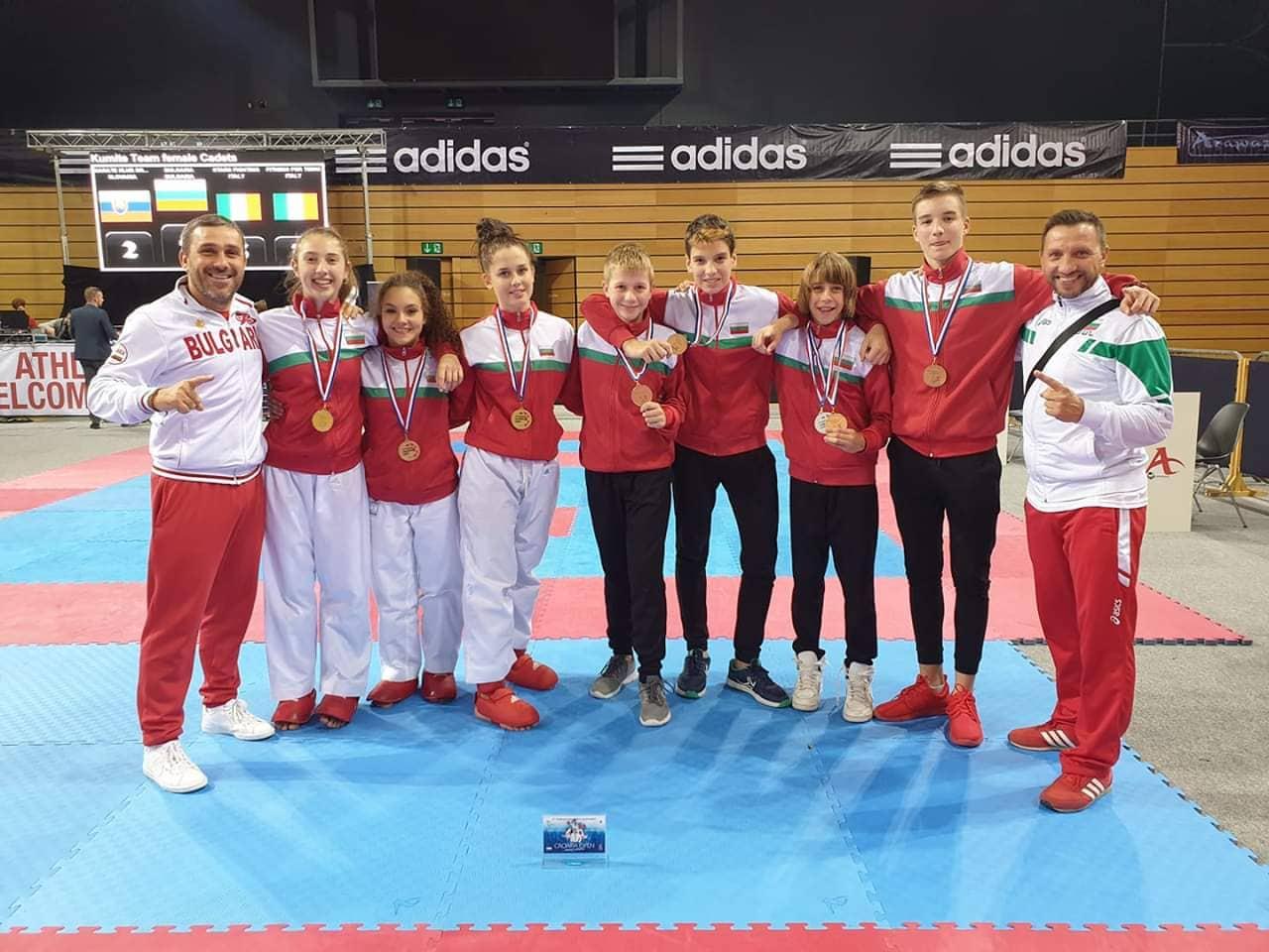 Кадетите ни в олимпийското карате спечелиха 5 медала в Хърватия