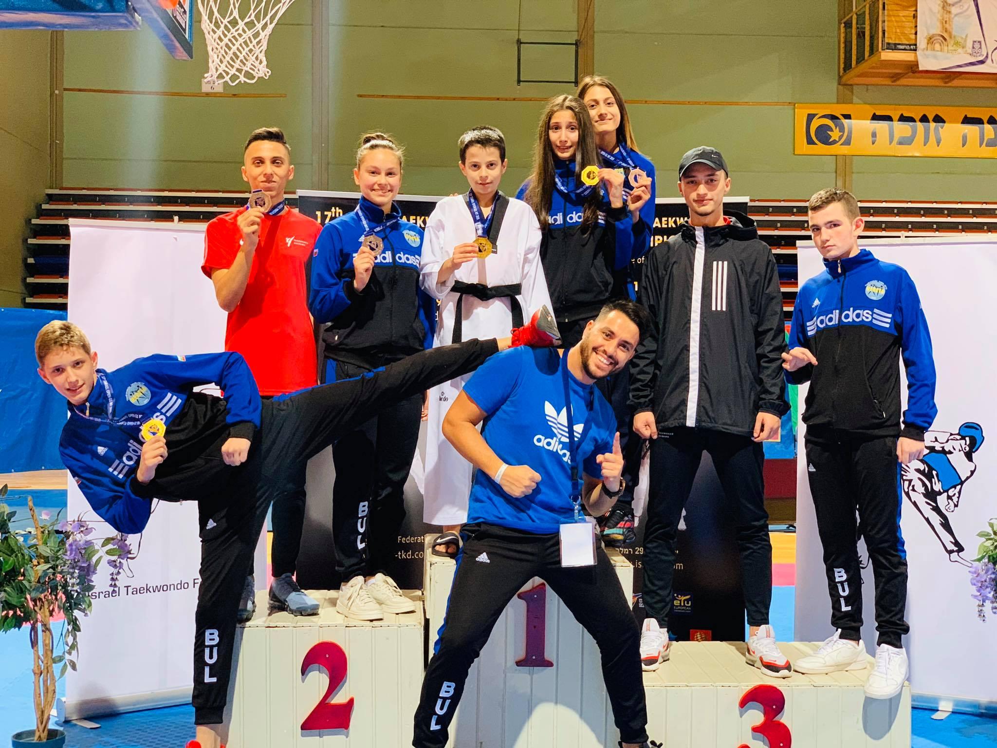 Пет медала за таекуондистите ни от силен турнир в Израел