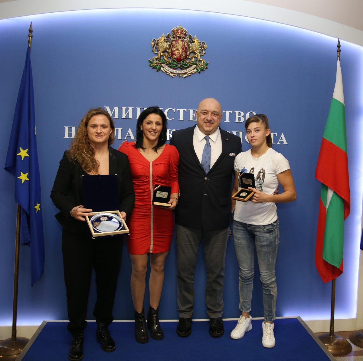 Самбистите ни с награди от Министерството на спорта