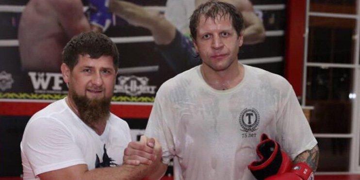 Рамзан Кадиров тренира за сблъсъка с Емеляненко (ВИДЕО)