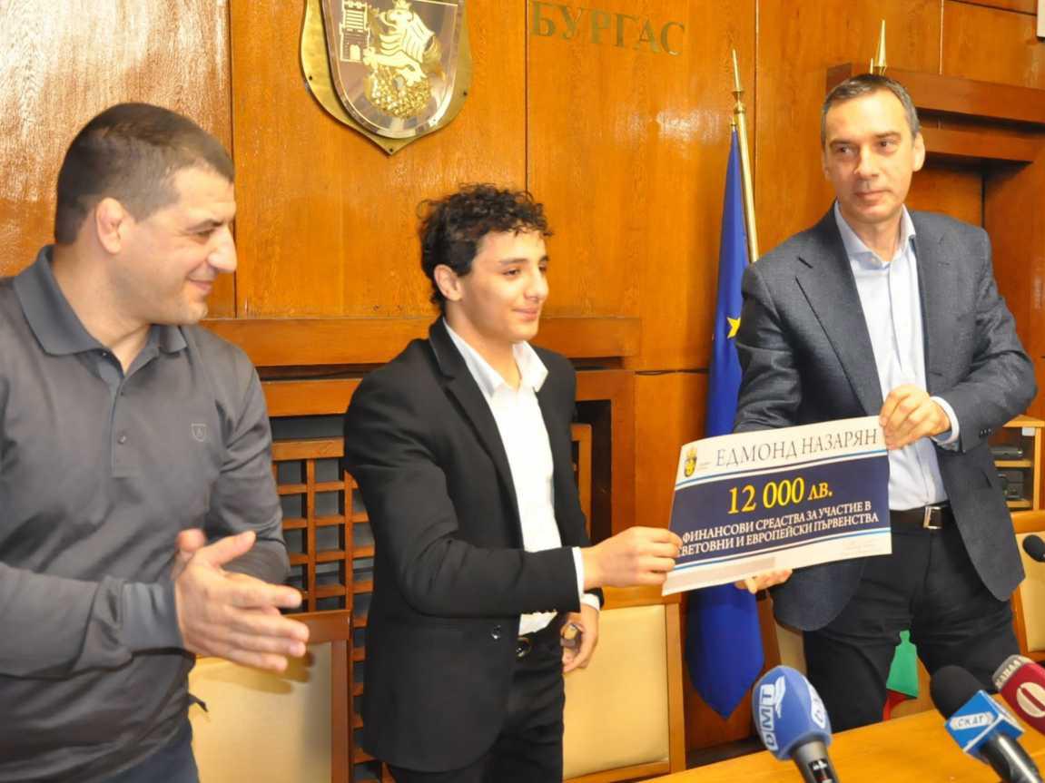 Едмонд Назарян заслужи премия от 12 000 лева