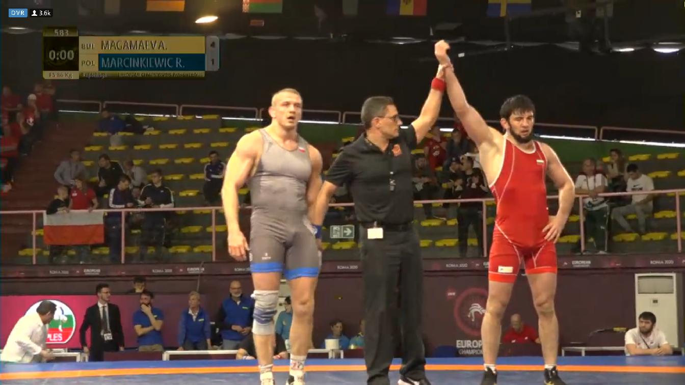 Магамаев с шанс за медал от европейското по борба
