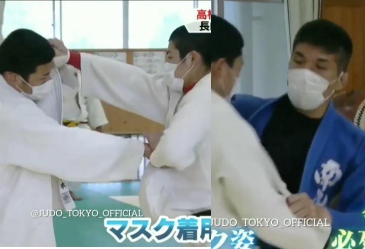 Без почивка за японските джудисти – тренират с маски