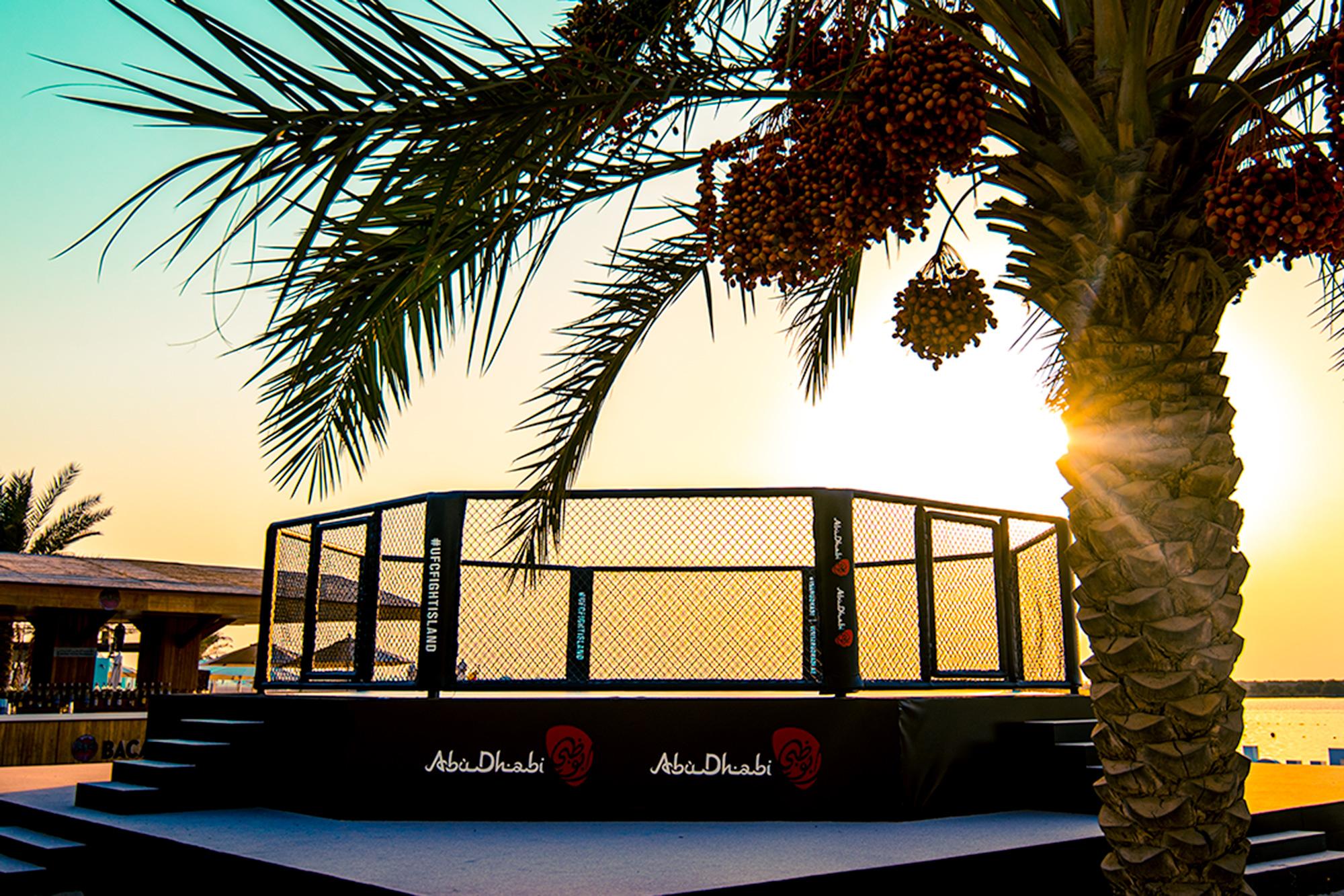 """UFC сложи клетката на """"Бойния остров"""" (СНИМКИ)"""