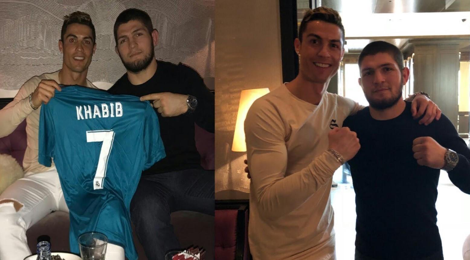 Футболистът Кристиано Роналдо подкрепя Хабиб в събота