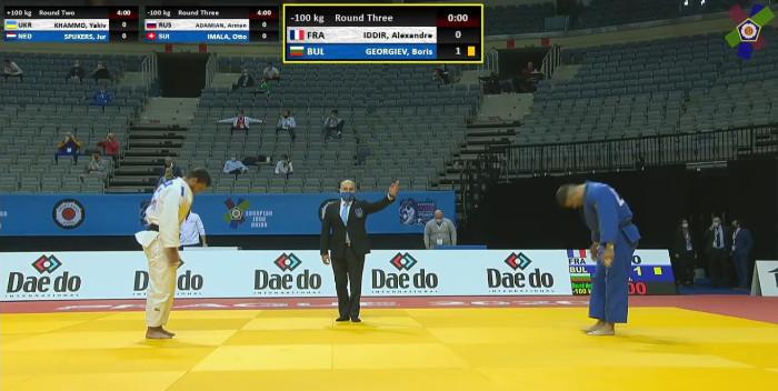 Борис Георгиев на крачка от полуфинал на Европейското по джудо