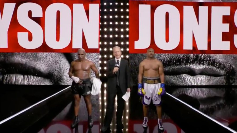 Без победител в мача между Майк Тайсън и Рой Джоунс-младши (ВИДЕО)