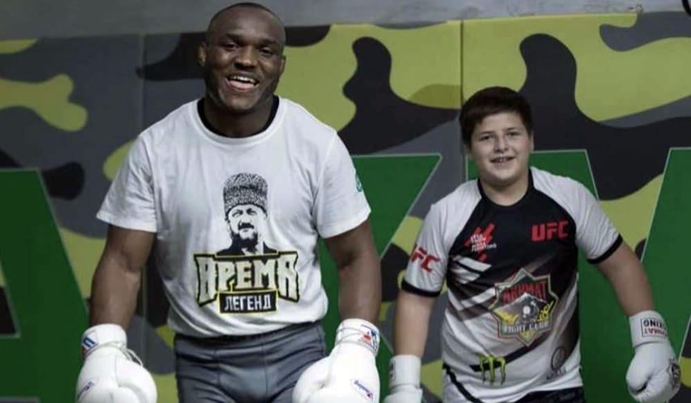 Усман посети Кадиров и тренира със синовете му (ВИДЕО)