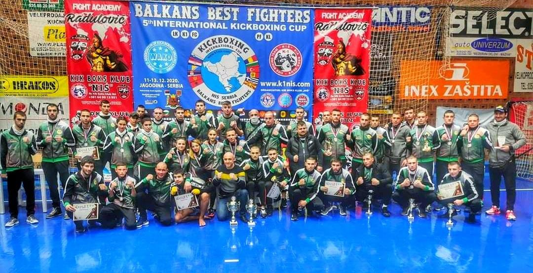 Кикбоксьорите ни без загуба на татами и отборната купа на Балканското